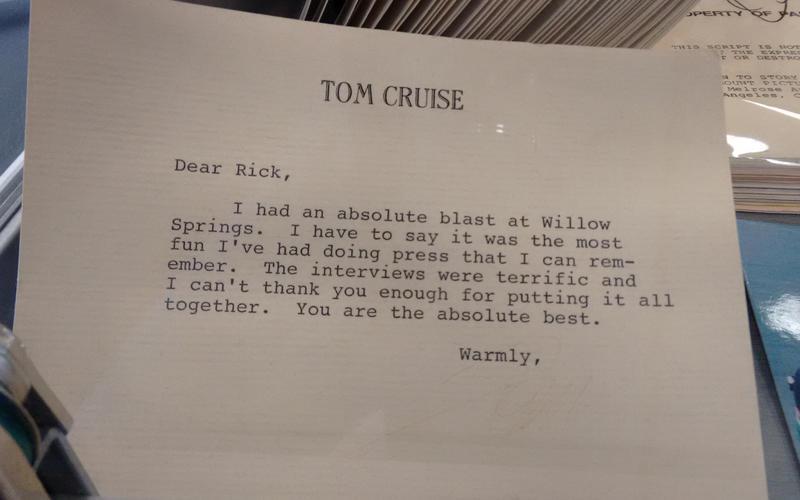 Tom Cruise letter