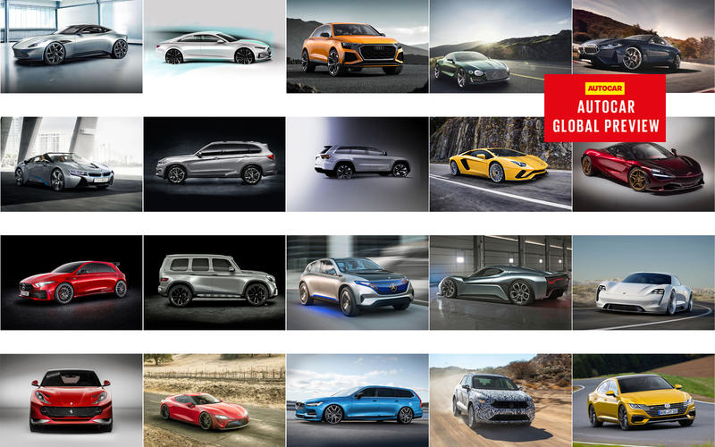 There's a whole raft of exciting new car models coming.