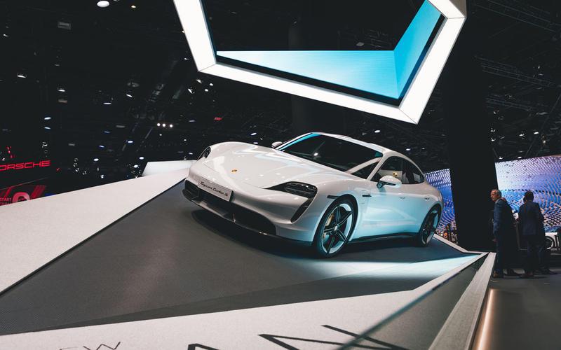 Porsche Taycan at Frankfurt motor show 2019