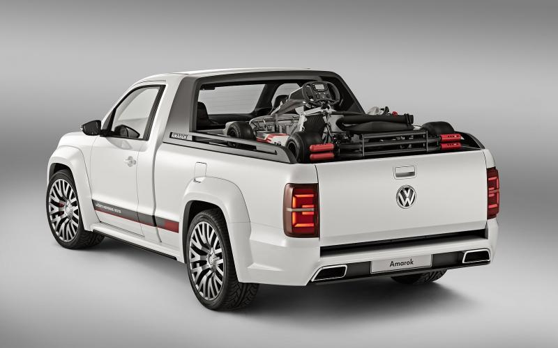 vw reveals amarok 39 power pickup 39 concept at w rthersee. Black Bedroom Furniture Sets. Home Design Ideas