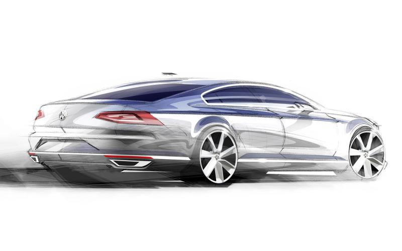 First details and sketches of new Volkswagen Passat revealed