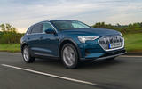 Audi E-tron 55 Quattro 2019 road test review - hero front