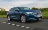 Audi E-tron 55 Quattro 2019 road test review - hero front