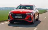 Audi E-tron Sportback 2020 road test review - hero front