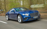 Bentley Continental GT 2018 Autocar road test review Hero front
