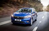 Dacia Sandero road test review 2021 - hero front