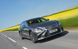 Lexus LS500h 2018 road test review hero front