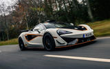 McLaren 620R 2021 road test review - hero front