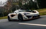 McLaren 620R 2021 road test review - hero front