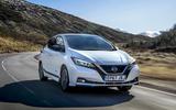 Nissan Leaf 2018 UK review hero front
