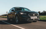 Seat Leon eHybrid 2020 road test review - hero front