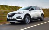 Vauxhall Grandland X Hybrid4 2020 road test review - hero front