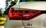 Audi A1 S Line 2019 road test review - rear lights