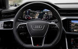 Audi A6 2019 road test review - steering wheel