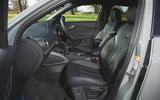 Audi SQ2 2019 road test review - front seats