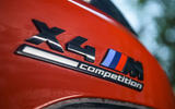 BMW X4 M Competition 2019 road test review - rear badge