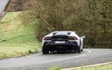 Lamborghini Huracan EVO RWD 2020 road test review - on the road rear