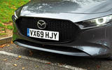 Mazda 3 Skyactiv-X 2019 road test review - front bumper