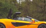McLaren 600LT Spider 2019 road test review - roof fold