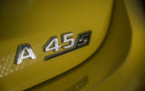 Mercedes-AMG A45 S 4Matic+ 2020 road test review - rear badge
