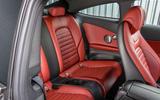 Mercedes-Benz C-Class Coupe 2019 review - rear seats