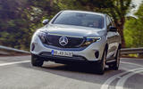 Mercedes-Benz ECQ 2019 review - cornering front