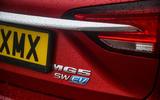 MG 5 SW EV 2020 Road test review - rear model