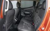 Mitsubishi L200 2019 road test review - rear seats