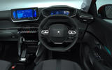 Peugeot e-208 2020 road test review - dashboard