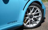 Porsche 911 GT2 RS 2018 road test review front alloys