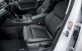 Skoda Superb iV 2020 road test review - front seats