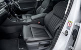 Skoda Superb iV 2020 road test review - front seats