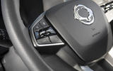 Ssangyong Korando 2019 road test review - steering wheel
