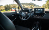 Toyota Corolla hybrid hatchback 2019 road test review - cabin