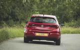 Vauxhall Astra 2019 road test review - cornering rear