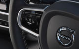 Volvo V90 T6 Recharge PHEV 2020 road test review - steering wheel