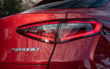 Alfa Romeo Stelvio Quadrifoglio 2019 road test review - rear lights