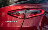Alfa Romeo Stelvio Quadrifoglio 2019 road test review - rear lights