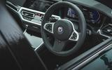 11 alpina d3 touring 2021 uk first drive review steering wheel