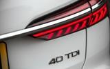Audi A6 Avant 2018 road test review - rear lights