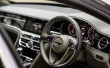 Bentley Flying Spur 2020 road test review - steering wheel