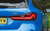 BMW 1 Series 118i 2019 road test review - rear lights