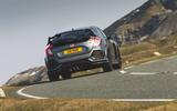 Honda Civic Type R 2019 road test review - cornering rear