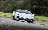 Lamborghini Huracan EVO RWD 2020 road test review - cornering front