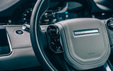 11 Land Rover Range Rover Evoque 2021 road test review steering wheel