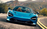 McLaren 720S Spider 2019 road test review - on the road nose