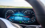 Mercedes-Benz A250e 2020 road test review - instruments