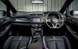 Nissan Leaf 2018 UK review dashboard