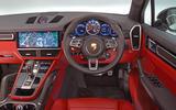 Porsche Cayenne Turbo 2018 road test review dashboard