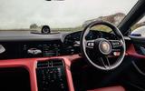 Porsche Taycan 2020 road test review - steering wheel